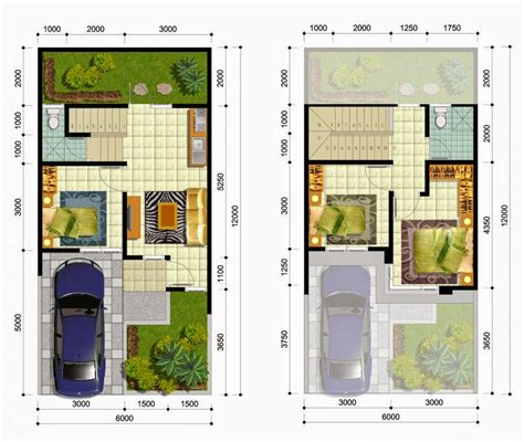 denah rumah minimalis  lantai    desain rumah minimalis