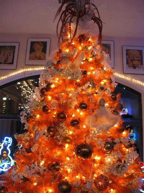 orange christmas tree  halloween trees treetopia