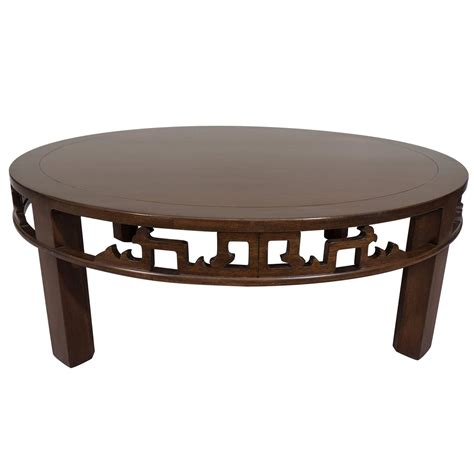 Baker Furniture Asian Inspired Round Coffee Table For Sale