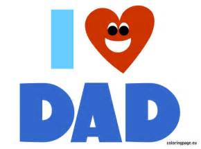 I Love Dad Clip Art