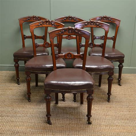 antique dining chairs superb quality set of six antique walnut dining 1268