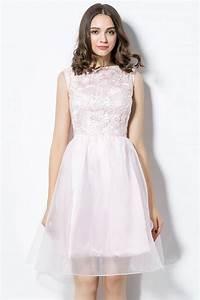 Haut Habillé Pour Soirée : robe rose pale pour soir e de mariage haut recouvert dentelle guipure ~ Melissatoandfro.com Idées de Décoration