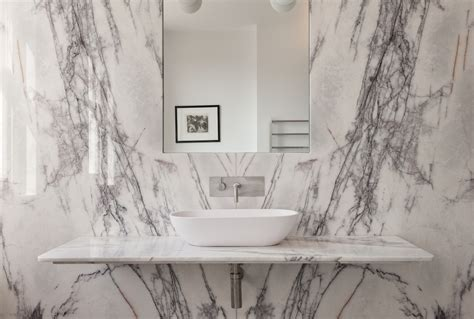 white marble wall bathroom of the week in london a dramatic turkish marble bathroom for a design minded couple