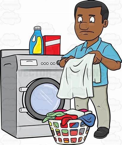 Laundry Cartoon Basket Clipart Folded Clothes Hair