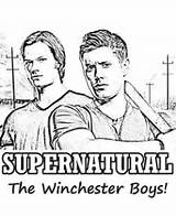 Supernatural Pages Winchester Coloring Boys Series Adults Dean Tv Sam Malvorlagen Designs Bitoeverything Drawings Books Kinder Template Holz Faerbung Vorlagen sketch template