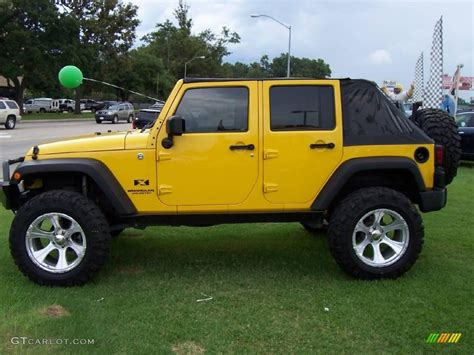 yellow jeep interior 2008 detonator yellow jeep wrangler unlimited x 4x4