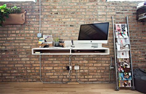 papier peint bureau ordinateur designs uniques de bureau suspendu archzine fr