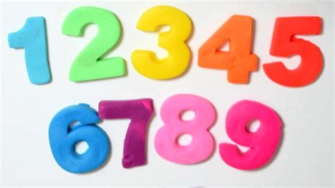 learn to count to 10 with play doh play doh numbers 1 10