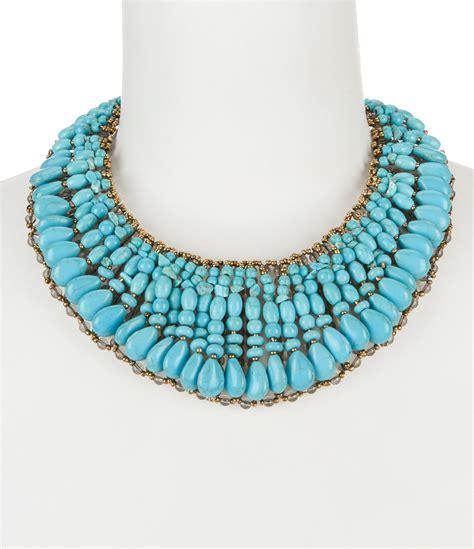 natasha accessories turquoise statement collar necklace