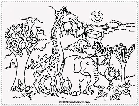 zoo coloring coloring pages