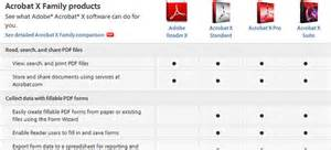 adobe livecycle designer acrobat x reader standard pro vs suite compare the differences