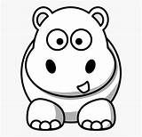 Hippo Coloring Line Google Cartoon Drawing Face Colouring Clipart Clipartkey sketch template