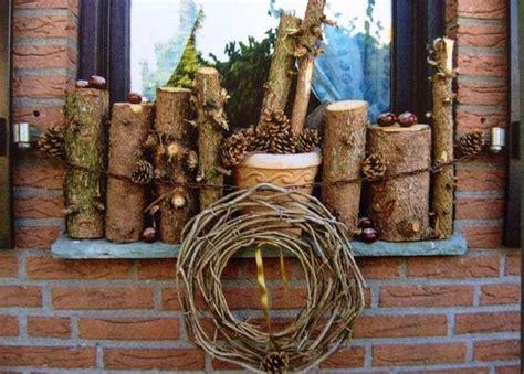 Herbstdeko Auf Der Fensterbank by Herbst Deko Mit Holz F 252 R Die Fensterbank Deko