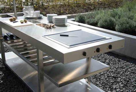 cuisine exterieur inox cuisine d 233 t 233 avec plan de travail en inox so inox