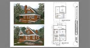 cottage blueprints two bedroom cabin with loft plans studio design gallery best design