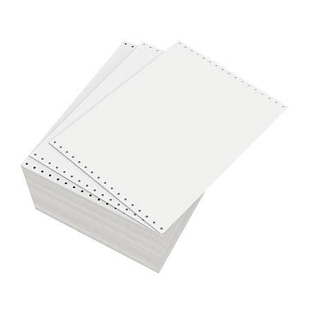continuous form paper domtar continuous form paper unperforated 11 x 8 12 18 lb