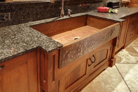 Home Depot Kitchen Sinks Faucets by Hand Crafted Mcnabb Farm Style Copper Sink By North Shore