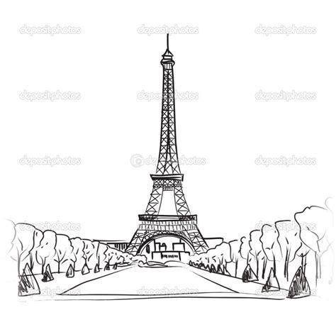 Paris Eiffel Tower Drawing Easy Eiffel Tower Drawing
