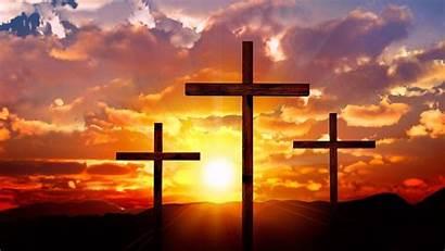 Sunset Cross Crosses Sky Three 4k Cloudy