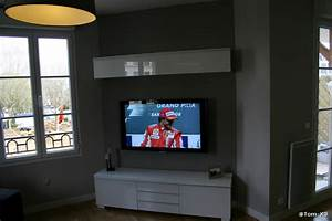 Meuble Tv Accroché Au Mur : installer sa tv au mur conseils astuces et photos page 34 29883755 sur le forum ~ Preciouscoupons.com Idées de Décoration