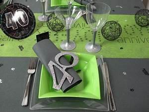 Idée Déco Table Anniversaire : idee decoration table anniversaire 40 ans ~ Melissatoandfro.com Idées de Décoration
