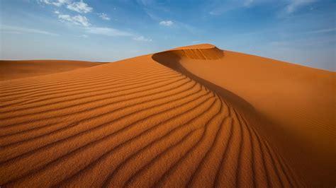 Nature Landscape Desert Sand Dune Clouds Shadow