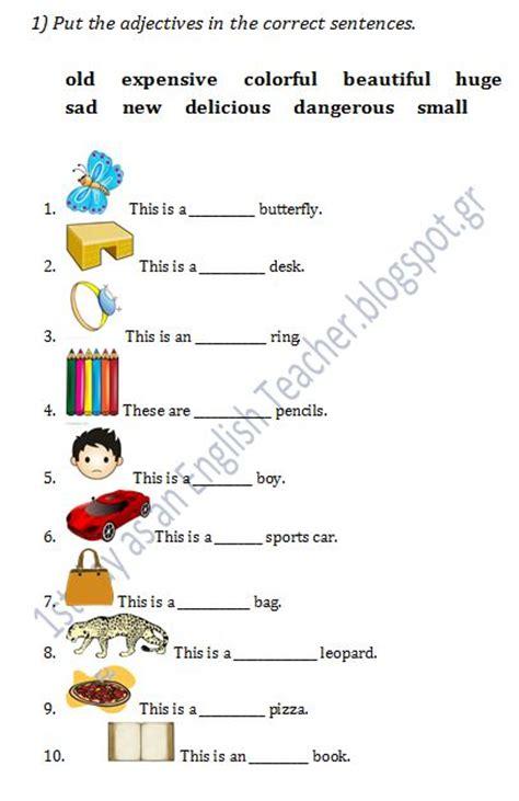 all worksheets 187 adjectives for grade 1 worksheets