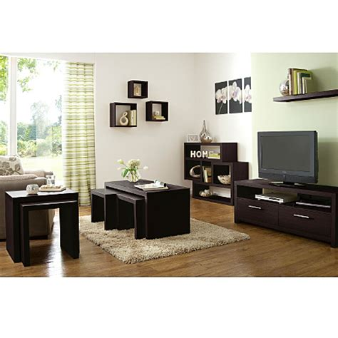 Living Room Accessories Asda by Ancona Living Room Range Walnut Effect Living Dining