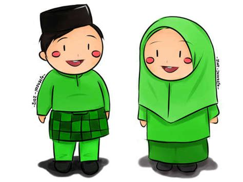 anime islam bergerak gambar animasi kartun islami lucu gambar kata kata