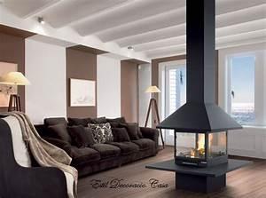 Cheminée Centrale Prix : chemin e de centrale gaz avec 4 vitres br leur et foyer ~ Premium-room.com Idées de Décoration