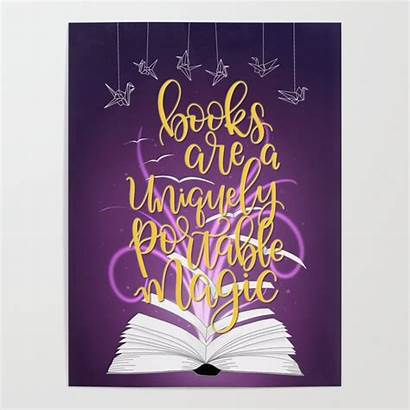 Books Portable Uniquely Magic Poster Posters Society6