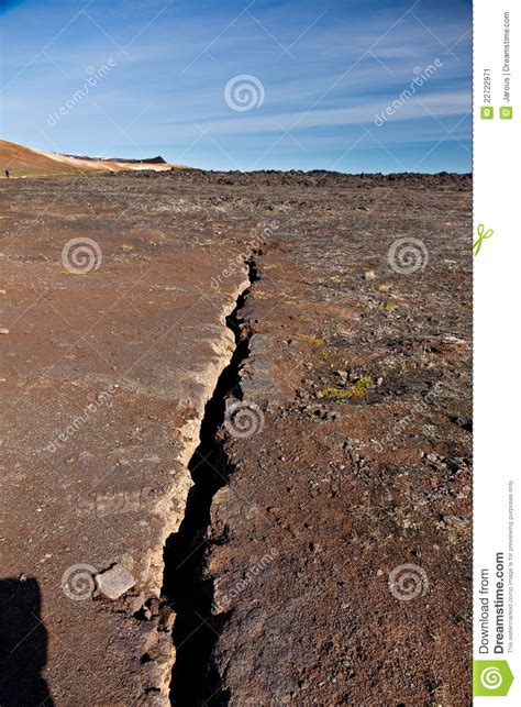 earthquake fissure  stock image image