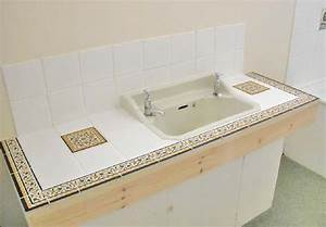 Bathroom Countertop And Vanity Top Tile Border Tile And