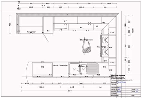 Galley Kitchen Layout Dimensions