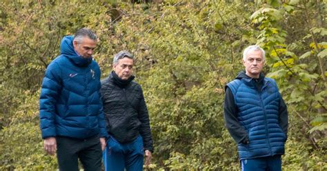 Jose Mourinho spotted walking with Tottenham staff after ...