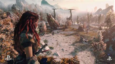 watch a post apocalyptic cavewoman hunt robot dinosaurs in