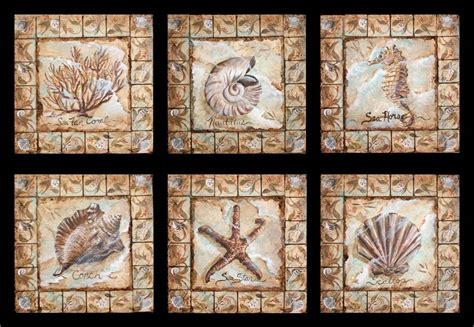 painted decorative tile inserts