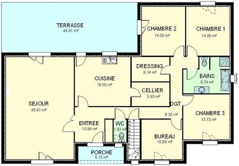 plan maison 5 chambres gratuit plan de maison plain pied gratuit 28 images plan