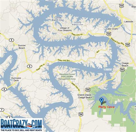 Lake Of The Ozarks Boating Map by Lake Ozark Map With Mile Markers Lake House