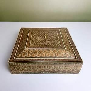 Petite Boite En Bois : petite boite carr en bois perse en micro mosaique khatam kari ~ Teatrodelosmanantiales.com Idées de Décoration