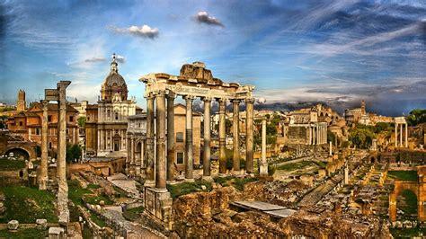 Forum Romanum Italy Architecture Rome Ruins Hd Wallpaper ...