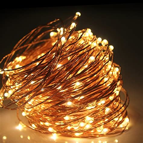 moobibear 66ft outdoor dimmable led string lights copper