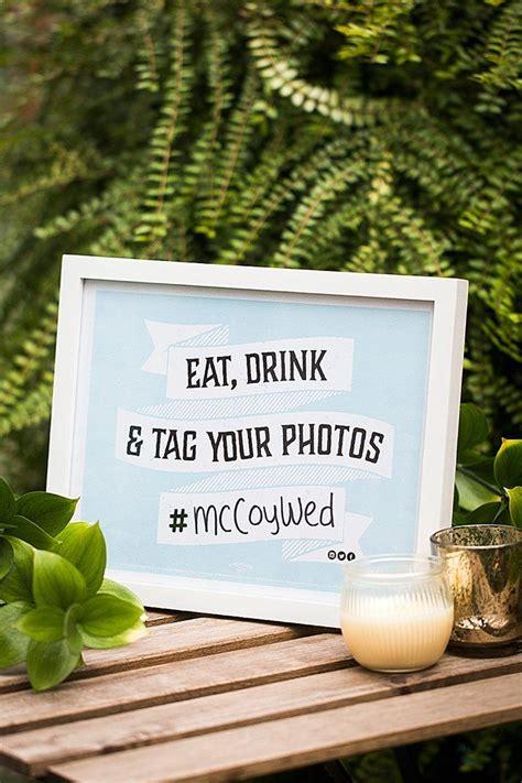 hashtag wedding printable sign  printables