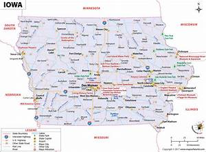 Iowa Map  Map Of Iowa  Ia
