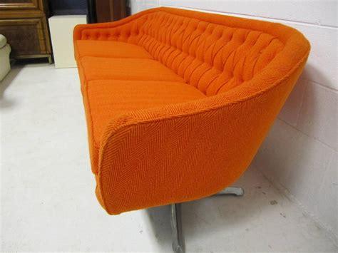 outrageous chromcraft pedestal sofa mid century