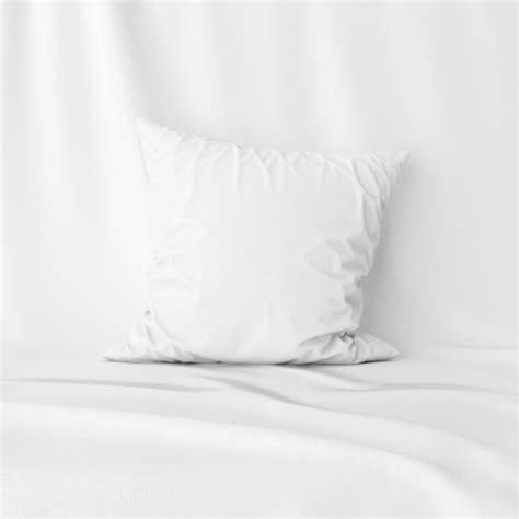 We provide free as well as premium designs for you, which has made outstanding. Front view of white pillow cover mockup   Free PSD File