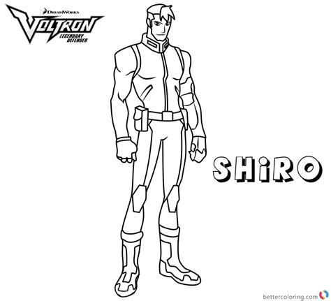 voltron coloring pages shiro  printable coloring pages