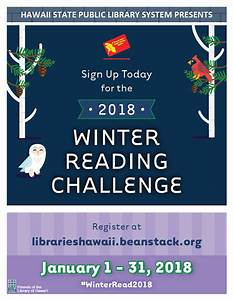 Hawaii State Public Library: 2018 Winter Reading Challenge ...