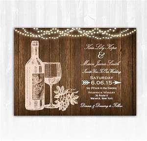 wine wedding invitation diy printable digital file or print With wedding invitation templates vineyard