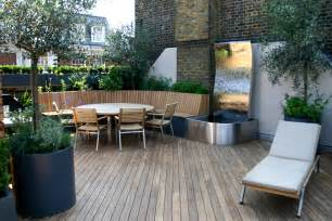 contemporary roof terrace in baker marylebone